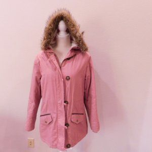 Forever 21 Mauve Bluse Sherpa Lined Winter Jacket